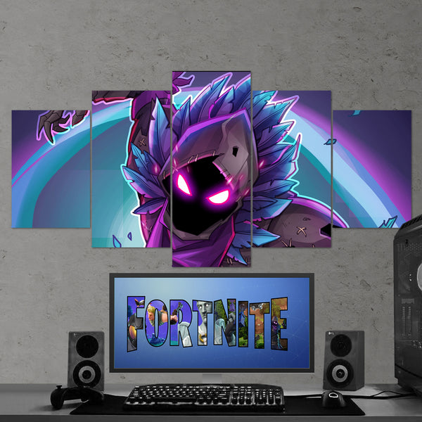 Fortnite Raven 17 - 5 Piece Canvas Wall Art Gaming Canvas