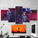 Fortnite Rapscallion And Scoundrel 26 - 5 Piece Canvas Wall Art Gaming Canvas