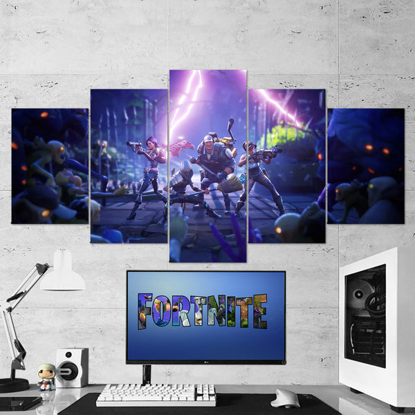 Fortnite 27 - 5 Piece Canvas Wall Art Gaming Canvas