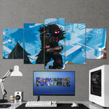 Fortnite Raven 32 - 5 Piece Canvas Wall Art Gaming Canvas