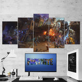 Fortnite Battle Royale  44 - 5 Piece Canvas Wall Art Gaming Canvas