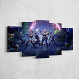 Fortnite Battle Royale 45 - 5 Piece Canvas Wall Art Gaming Canvas