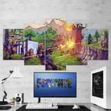 Fortnite 46 - 5 Piece Canvas Wall Art Gaming Canvas