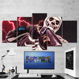 Fortnite Battle Royale Skull Trooper 50 - 5 Piece Canvas Wall Art Gaming Canvas
