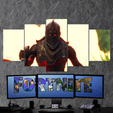 Fortnite Black Knight 54 - 5 Piece Canvas Wall Art Gaming Canvas