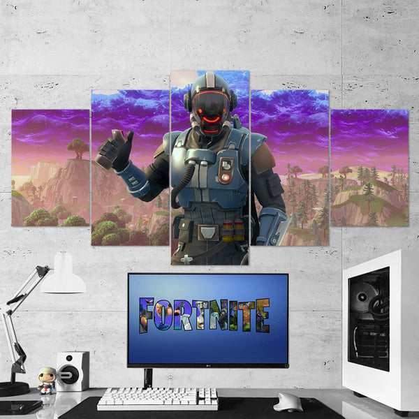 Fortnite The Visitor 55 - 5 Piece Canvas Wall Art Gaming Canvas