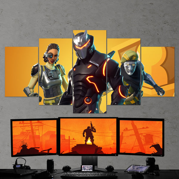 Fortnite Omega Full Armor, Steelsight, Diecast 61 - 5 Piece Canvas Wall Art Gaming Canvas