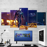 Fortnite Omega Full Armor 62 - 5 Piece Canvas Wall Art Gaming Canvas