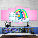 Fortnite Llama Art 65 - 5 Piece Canvas Wall Art Gaming Canvas