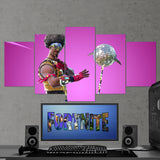 Fortnite Funk Ops 68 - 5 Piece Canvas Wall Art Gaming Canvas