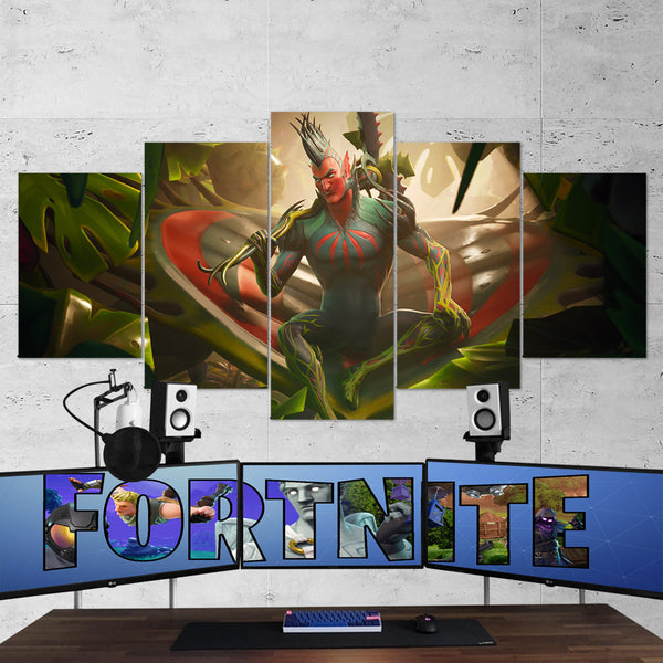 Fortnite Flytrap 69 - 5 Piece Canvas Wall Art Gaming Canvas