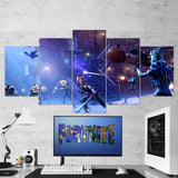 Fortnite Battel Royale 73 - 5 Piece Canvas Wall Art Gaming Canvas
