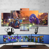 Fortnite Battel Royale Art Work 75 - 5 Piece Canvas Wall Art Gaming Canvas
