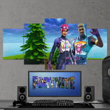 Fortnite Battel Royale Brite Bomber And Brite Gunner 76 - 5 Piece Canvas Wall Art Gaming Canvas