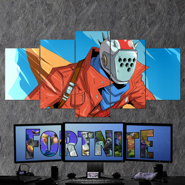 Fortnite Battel Royale Rust Lord 78 - 5 Piece Canvas Wall Art Gaming Canvas