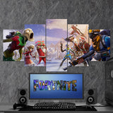 Fortnite Battel Royale Fortnitemares 80 - 5 Piece Canvas Wall Art Gaming Canvas