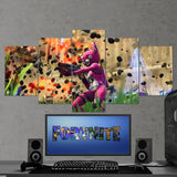 Fortnite Battel Royale Cuddle Team Leader 90 - 5 Piece Canvas Wall Art Gaming Canvas