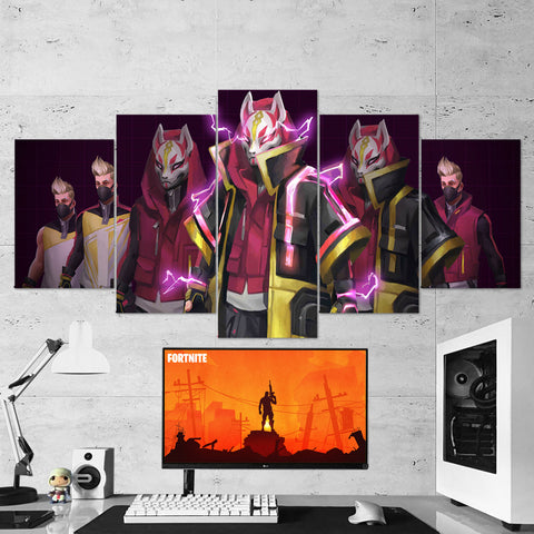 Fortnite 92 Drift 5 Piece Canvas Wall Art Gaming Canvas