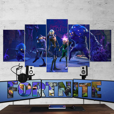 Fortnite 94 - 5 Piece Canvas Wall Art Gaming Canvas