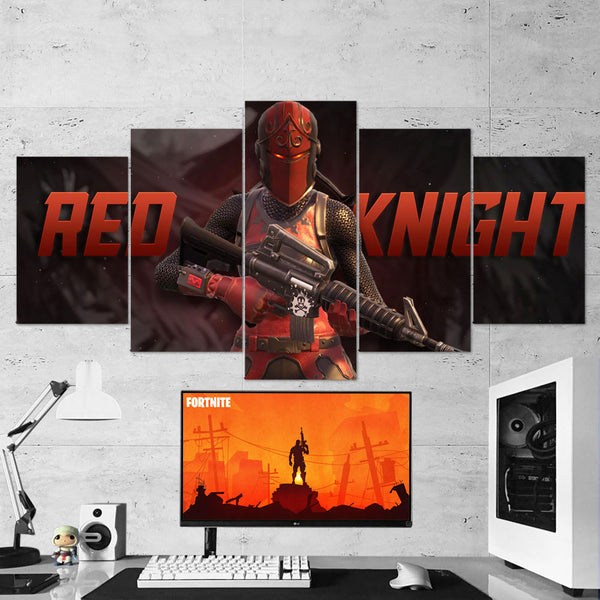 Fortnite 95 Red Knight 5 Piece Canvas Wall Art Gaming Canvas
