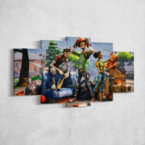 Fortnite 98 - 5 Piece Canvas Wall Art Gaming Canvas