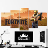Fortnite Battle Royale Canvas Wall Art 127 - 5 Piece Canvas Wall Art Gaming Canvas