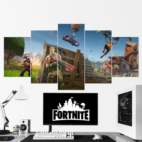 Fortnite Battle Royale Canvas Wall Art 128 - 5 Piece Canvas Wall Art Gaming Canvas