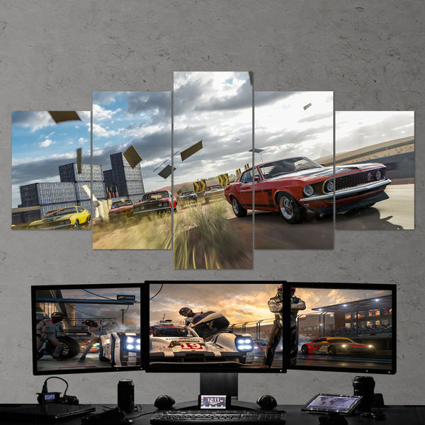 Forza Motorsport 01 - 5 Piece Canvas Wall Art Gaming Canvas
