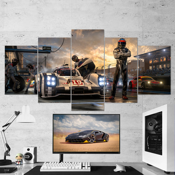 Forza Motorsport 04 - 5 Piece Canvas Wall Art Gaming Canvas