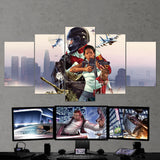 GTA Online - Grand Theft Auto Online 5 Piece Canvas Wall Art Gaming Room Canvas 5PCGTA012