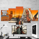 GTA San Andreas - Grand Theft Auto San Andreas 5 Piece Canvas Wall Art Gaming Room Canvas 5PCGTA005