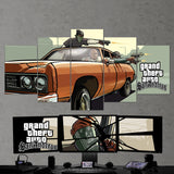 GTA San Andreas - Grand Theft Auto San Andreas 5 Piece Canvas Wall Art Gaming Room Canvas 5PCGTA013