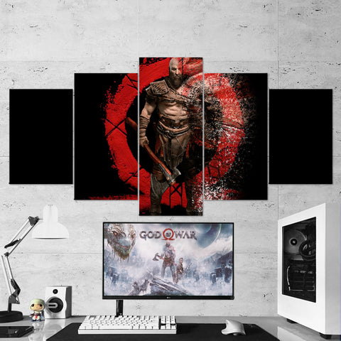 God Of War 02 - 5 Piece Canvas Wall Art Gaming Canvas