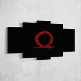 God Of War 03 Omega 5 Piece Canvas Wall Art Gaming Canvas