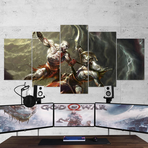 God Of War 04 - 5 Piece Canvas Wall Art Gaming Canvas