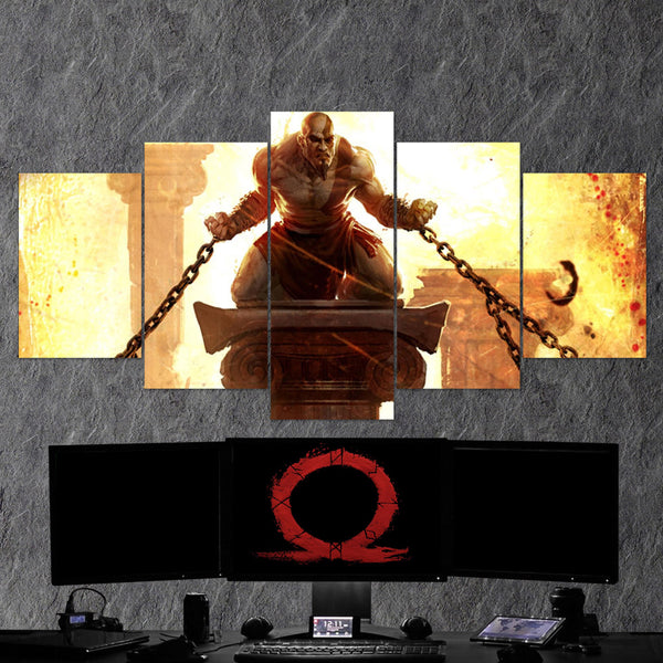 God Of War 05 - 5 Piece Canvas Wall Art Gaming Canvas