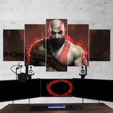God Of War 07 - 5 Piece Canvas Wall Art Gaming Canvas