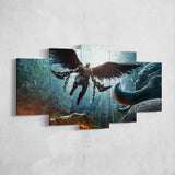 God Of War 08 - 5 Piece Canvas Wall Art Gaming Canvas