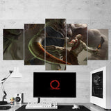 God Of War 09 - 5 Piece Canvas Wall Art Gaming Canvas