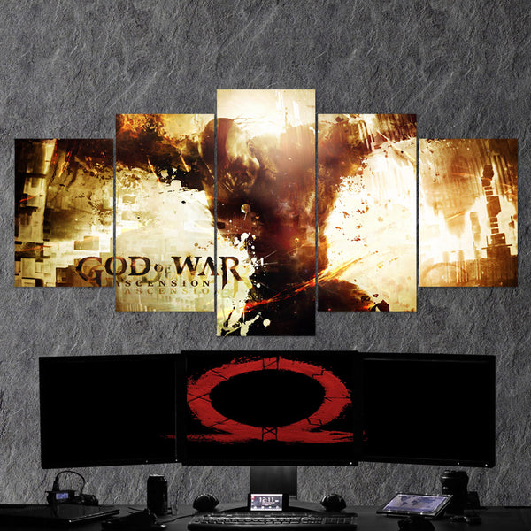 God Of War 10 - 5 Piece Canvas Wall Art Gaming Canvas