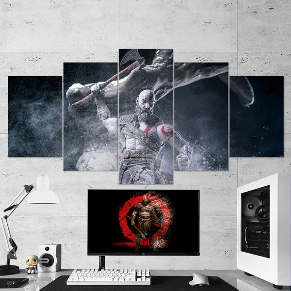 God Of War 15 - 5 Piece Canvas Wall Art Gaming Canvas