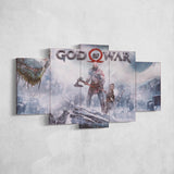 God Of War 16 - 5 Piece Canvas Wall Art Gaming Canvas