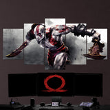 God Of War 17 - 5 Piece Canvas Wall Art Gaming Canvas