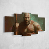 God Of War 19 - 5 Piece Canvas Wall Art Gaming Canvas