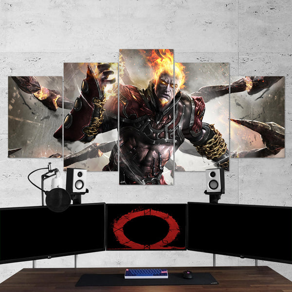 God Of War 20 - 5 Piece Canvas Wall Art Gaming Canvas