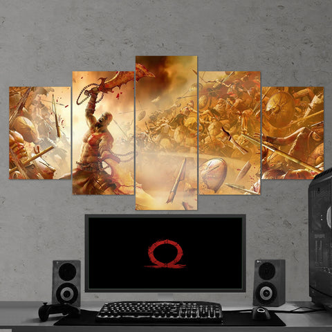 God Of War 22 - 5 Piece Canvas Wall Art Gaming Canvas