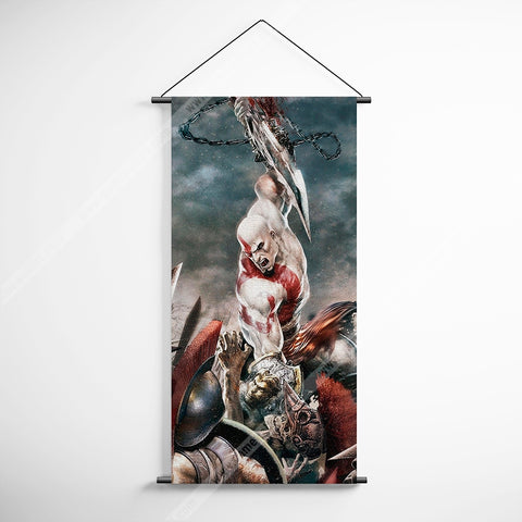 God Of War 23 Kratos Decorative Banner Flag for Gamers