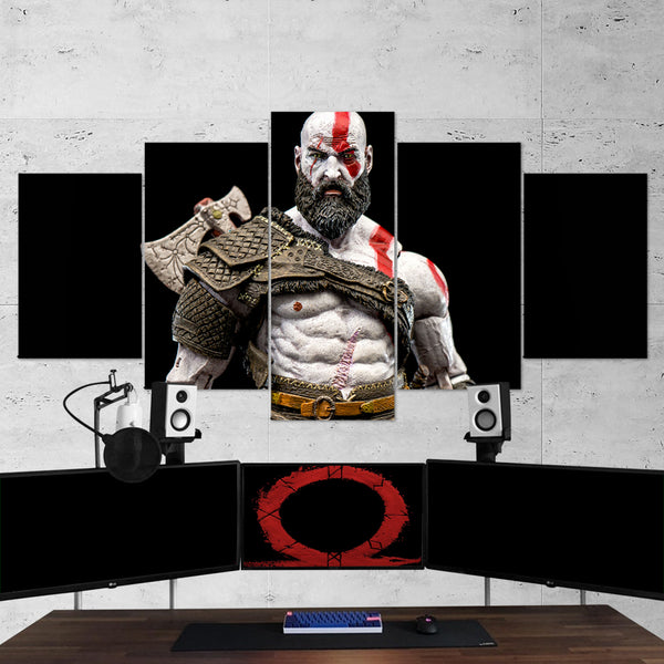 God Of War 27 - 5 Piece Canvas Wall Art Gaming Canvas