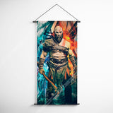 God Of War 39 Kratos Decorative Banner Flag for Gamers
