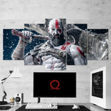 God Of War 36 Kratos 5 Piece Canvas Wall Art Gaming Canvas
